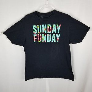 Bowery Supply co SUNDAY FUNDAY spellout tee L